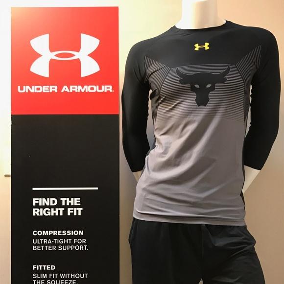 cc2885a99ec Under Armour Men s Project Rock 3 4 Length Shirt